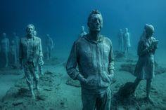 Museo Atlantico, construído a 12 metros de profundidade nas Ilhas Canárias, na Espanha