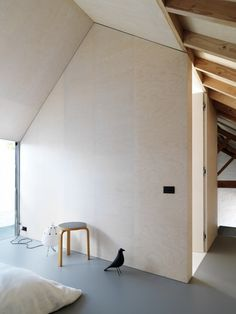 Stupefying Tips: Minimalist Interior Grey Simple minimalist decor diy clothes.Modern Minimalist Interior Building minimalist home office storage. Plywood Wall Paneling, Plywood House, Plywood Ceiling, Plywood Interior, Interior Walls, Interior And Exterior, Plywood Furniture, Modern Furniture, Furniture Design