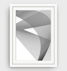 Black and White Abstract Print Line Art Geometric by GalliniDesign