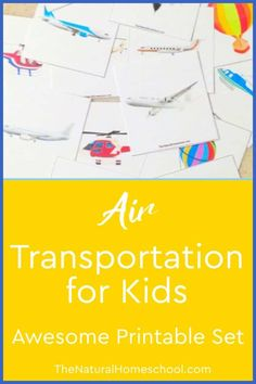 Awesome Lessons on Air Transportation for Kids These lessons on air transportation for kids include learning games for kids, printables and even notebooking ideas. #airtransportforpreschool #airtransportationforkids #airtransportationlessonplansforpreschool #airtransportforkids Classical Education, Gifted Education, Homeschool Kindergarten, Homeschool Curriculum, Transportation For Kids, Learning Games For Kids, Fall Cleaning, How To Start Homeschooling, Lessons For Kids