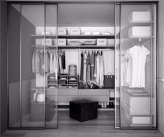For ultimate Walk in Wardrobe design our beautiful range of colours and finishes combined with our unique cantilever design allows you the flexibility. Closet Walk-in, Bedroom Closet Storage, Closet Built Ins, White Closet, Closet Ideas, Closet Small, Wardrobe Storage, Bathroom Closet, Diy Custom Closet