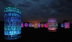 Bruce Munro: Water Towers - part of a solo exhibition at Longwood Gardens called Light    (Up through September - check it out!)
