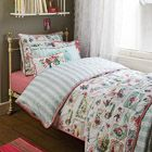 Duvet cover with lovely illustrations by #RoomSeven bed & bath (Poetry)