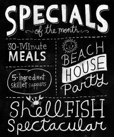 I love the typography