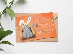 """Húsvéti """"cicanyuszi"""" képeslap (INGYENES) - Gallay-Nagy Krisztina grafikus, illusztrátor    húsvéti kép, cicás"""