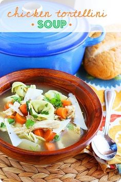 Chicken Tortellini Soup by the Comfort of Cooking  http://www.thecomfortofcooking.com/2012/10/chicken-tortellini-soup.html