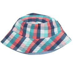 Reversible Check Sunhat (2-9yrs), This fisherman style hat is a summer essential. Reversible with a choice of plain or check it's two great hats in one which means you get more wear out of it.