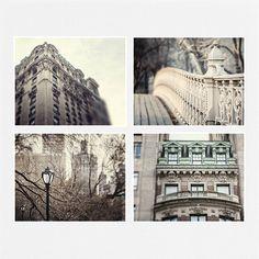 New York City Print Set, NYC Photography, Grey Urban Decor, Architecture Prints, City Landscape Decor, New York City Art, 5x7 8x10 11x14.