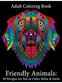 Adult Coloring Books Animal Mandala Designs And Stress Relieving