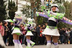 Buzz Lightyear Cheerleaders Hong Kong Disneyland Flights of Fantasy Parade