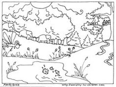 here are the next coloring sheets about creation from mandy groce these two illustrate the - Coloring Pages For Paint Program