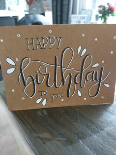 Alles Gute zum Geburtstag – handlettering – Happy birthday – handlettering – the Birthday Card For Boss, Diy Birthday Sign, Happy Birthday Signs, Birthday Letters, Funny Birthday Cards, Handmade Birthday Cards, Art Birthday, Birthday Gifts, Lettering Tutorial
