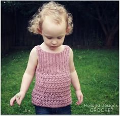 easy crochet tank top patterns | ... lovely crocheted tank pattern! Includes sizes 0-6 mos up to 8 years