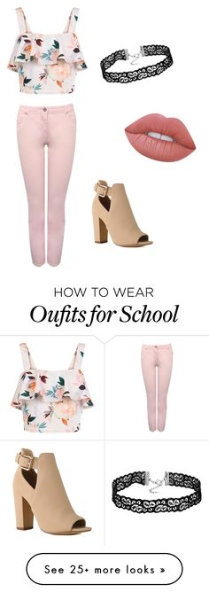 """""""School"""" by faith-27 on Polyvore featuring New Look, M&Co and Lime Crime"""