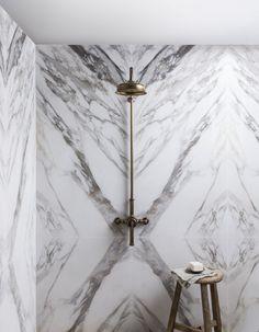 Capri White Gloss Bookmatch Porcelain Decorative Tile, Natural Stones, Tiles, Porcelain, Design, Room Tiles, Porcelain Ceramics, Tile