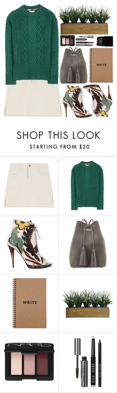 """Green."" by shanelala ❤ liked on Polyvore featuring Burberry, Tom Ford, Laura Ashley, NARS Cosmetics, Bobbi Brown Cosmetics and Butter London"