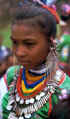 Nepal | Tharu girl | ©unknown