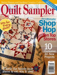 Book Quilt, Quilt Top, Star Quilts, Quilt Blocks, All People Quilt, Applique Fabric, Book Crafts, Craft Books, Better Homes And Gardens