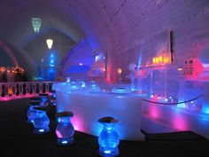 Chena Hot Springs ice museum...get an appletini!!! Or 10!!!