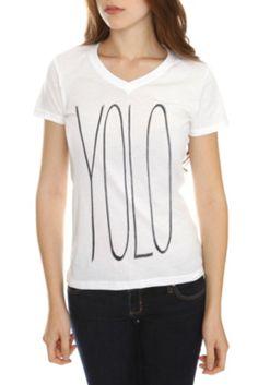 YOLO V-Neck Girls T-Shirt