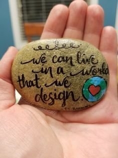 We can live in a world that we design. -P.T. Barnum quote, The Greatest Showman movie painted rock #paintedrocks #kindnessrocks #thegreatestshowman