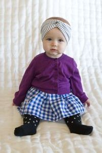 turbans for babies. yes, please!