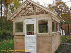 Greenhouse Made From Old Doors | DIY Greenhouse Project Made from Old Windows and Doors - step by step ...