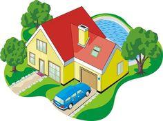 my dream house, garage and garage door