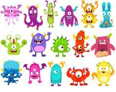 Monstruos lindos Clip Art imágenes Clipart de Monster