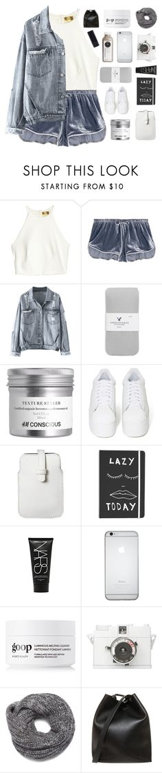 """""""I THINK IM IN LOVE"""" by expresng ❤ liked on Polyvore featuring H&M, LoveStories, American Eagle Outfitters, Jeffrey Campbell, Mossimo, NARS Cosmetics, Lomography, Nine West and 3.1 Phillip Lim"""