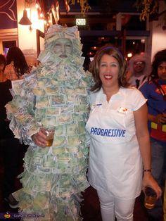 Geico Money Man and Flo from Progressive - Couples Halloween Costume Idea