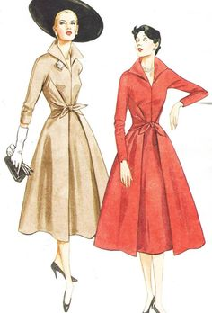 Vogue Sewing Pattern 2401 Womens 1950s Mock Wrap by CloesCloset