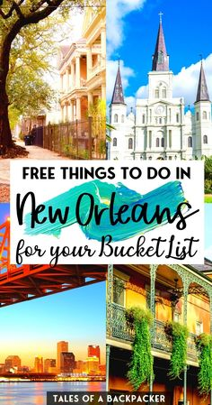 Fab Free Things to do in New Orleans for your Bucket List - If you're planning to visit New Orleans on a budget, check out this list of the best things to do in New Orleans and enjoy NOLA for free! Don't miss these free activities in New Orleans! | New Orleans for Free | Cheap Things to do in New Orleans | Mardi Gras | New Orleans Louisiana