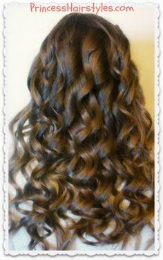 Pretty curling wand curls