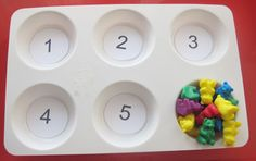 I have been so inspired by the Tot Trays that I have seen online that I knew I wanted to start doing Tot Trays with A. Preschool Classroom, Kindergarten Math, Preschool Ideas, Teaching Math, Too Cool For School, School Stuff, Counting Bears, Math Tables, Finger Fun