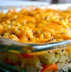 "Recipe: Cheesy Chicken and Wild Rice Casserole Summary: No mayo, no cream soup. One pinner said ""this is the BEST recipe I have made from Pinterest."" The husband got thirds. Ingredients 3 tablespoons olive oil 1 white onion, diced 3 stalks celery, diced 3 carrots, diced 2 tablespoons garlic, minced 2 cups cooked chicken breast, …"
