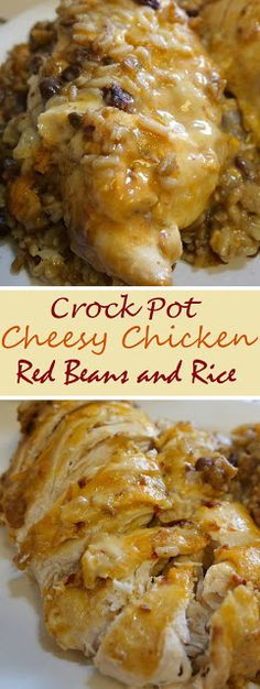 Crock Pot Cheesy Chicken Red Beans and Rice - Ann Healthy !!!