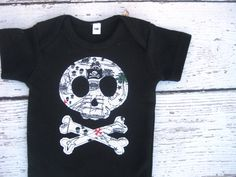Pirates Skull and Crossbone Applique Tee by LittlePitterpat, $16.00