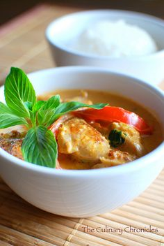 goal: to learn to cook thai. red curry chicken thai