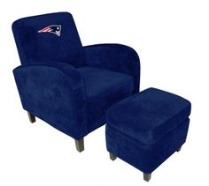 New England Patriots Den Chair with Ottoman