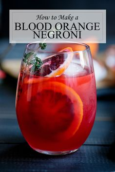 Blood Orange #Negroni #Cocktail Recipe - Unique Variant