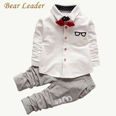 Bear Leader Baby Clothing Sets Kids Clothes Autumn Baby Sets Kids Long Sleeve Sports Suits Bow Tie T-shirts + Pants Boys Clothes - Kid Shop Global - Kids & Baby Shop Online - baby & kids clothing, toys for baby & kid Baby Outfits, Toddler Boy Outfits, Sport Outfits, Kids Outfits, Toddler Pants, Kids Pants, Toddler Boys, Infant Toddler, Baby Set