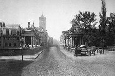 Königsbrücke und Königstraße 1872, im Vordergrund die Königskolonnaden