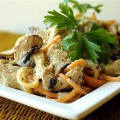 Romige kip en pasta uit de slowcooker @ allrecipes.nl