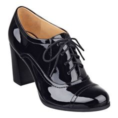 Nostalgia lace-up oxford shooties:: patent
