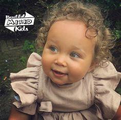 Precious Children, Beautiful Children, Beautiful Babies, Cute Kids, Cute Babies, Baby Kids, Baby Girl Fashion, Kids Fashion, Mixed Babies