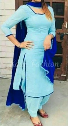 Pin by shab rab on Women& Fashion that I love in 2019 Sleeves Designs For Dresses, Neck Designs For Suits, Dress Neck Designs, Punjabi Suit Simple, Salwar Suits Simple, Indian Suits Punjabi, Punjabi Suits Party Wear, Punjabi Salwar Suits, Patiala Salwar
