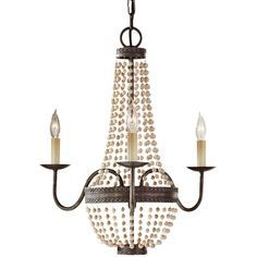 Finish: Peruvian Bronze Material List: Body - Steel/Wood Supplied with 96'' of wire Supplied with 72'' of chain Canopy: H: 5/8''  Diameter: 5''  Natural Chinese Cherry Wood beads  Safety Listing: UL Listed for Dry Locations / IC - cUL Listed for Dry Locations / IC
