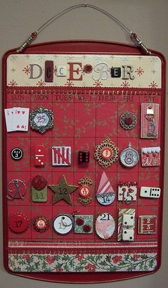 This is the MOST innovative Count-Down-To-Christmas calendar I have ever seen. Cookie sheet and magnets!