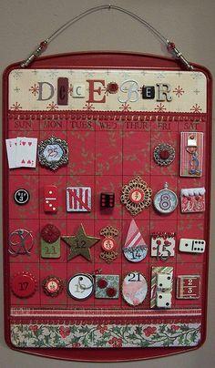 Cookie sheet Calendar